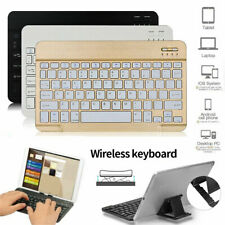 "Slim Univesal 10"" Wireless Keyboard Portable For IOS Android Windows Tablet PC"