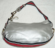 Tommy Hilfiger Classic 1990s Original vintage space silver hobo handbag purse