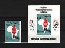 Belgisch Congo Belge Rep Congo n° 651Aa + BL21 MNH imperf OUA Kinshasa c37.00Eu
