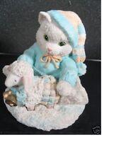 Enesco Calico Kittens Ewe Warm My Heart Cat & Lamb Letter Mark #626162