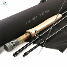 Nymph Fly Fishing Rod 10FT -#3wt -4Pcs NANO IM12 Graphite Carbon Fast 88g Only