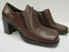 White Mountain A25207 Jive Leather Shoes Ankle Booties Brown Tan Womens 10