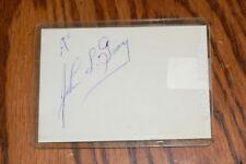 JOHN GRAY KANSAS CITY A'S, INDIANS, PHILLIES signed Cut Autograph