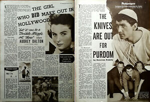 Audrey Dalton Girl Who Did Make Out In Hollywood / Edmund Perdom Articles 1954