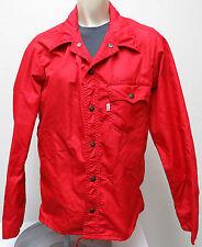 vtg Levi's RED WINDBREAKER XS White Tab 70s/80s Metal Snaps jacket rare light