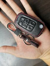 5 Button Remote Fob Bag Holder Leather Car Key Cover Case For Chevrolet Buick
