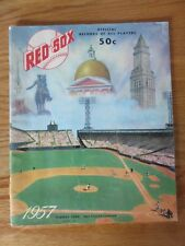 1957 RED SOX Yearbook TED WILLIAMS PETE RUNNELS JIM PIERSALL GENE MAUCH