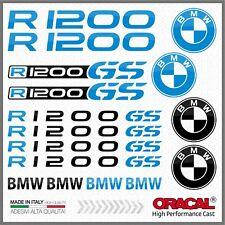 16x R1200GS Black/LBlue BMW MOTTORAD ADHESIVOS R1200 GS PEGATINA STICKERS R 1200