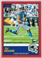 DJ Moore 2019 Score Football RED Parallel #257 Carolina Panthers