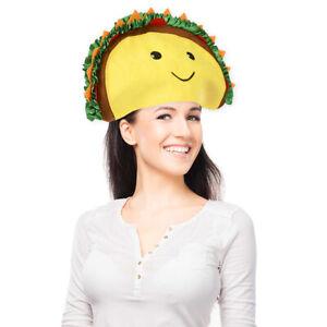 TACO HAT - Sombrero Headband Cap Food-Prop-Smiley-Halloween Funny Party Costume