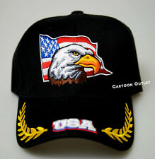 PATRIOTIC USA AMERICAN FLAG BASEBALL DAD HATS CAPS EMBROIDERED EAGLE CASUAL NEW