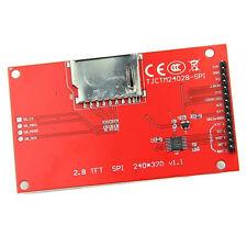 "TFT 2.8"" 240x320 ILI9341 5V/3.3V SPI LCD Serial Port Module+PCB Adapter Micro SD"
