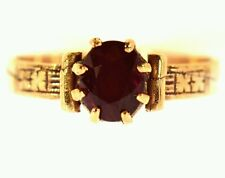 1.25 CT RUBY SOLITAIRE RING ROSE GOLD ESTATE NATURAL OVAL CUT BEAUTIFUL MOUNTING