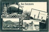 D BAD HARZBURG ca. 1920 ungebr. Gruß-aus-AK mit Bismarck-Denkmal, Kriegerdenkmal