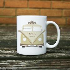 Personalised Wedding Campervan Mug - Mrs Bride 11oz, Ceramic