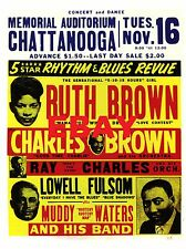 """Ruth Brown / Muddy Waters Chattanooga 16"""" x 12"""" Photo Repro Concert Poster"""