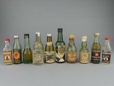 LOT  x10  Mignonnette ALCOOL / RHUM / VERMOUTH / VIN / LIQUEUR / PINEAU / ETC...