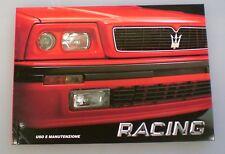 Libretto uso e manutenzione Maserati Racing