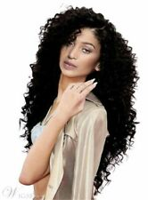 Salt And Pepper Long Dark Brown Curly Choppy Layered Synthetic Capless Wigs