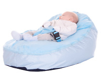 Baby Bean Bag In Blue Spotty Design - Including filling & New Design