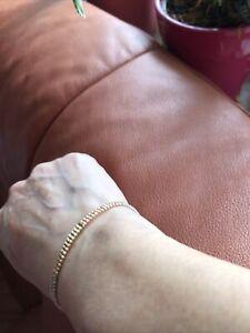 goldarmband 585 gebraucht Tricolor über 7 Gramm 6 cm Innen Durchmesser