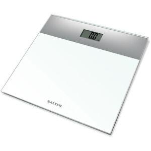 Salter 9206 SVWH3R Glass Electronic Bath Digital Body Weight Bathroom Slim Scale