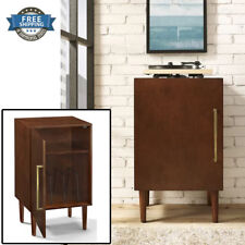 Record Player Stand Standing Stands With Storage Retro Wood Vintage Table Wooden