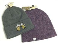 Set of 2 Coal Beanie Hats NWT Lauren & Crave Beer Mugs Knit Ski Purple, Gray O/S