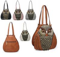 New Ladies Women's 3D Owl Shaped Faux Leather Handbag Shoulder Crossbody Bag UK