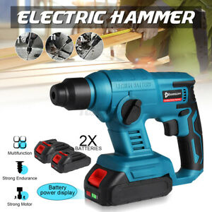Brushless Electric Hammer Impact Drill Rotary Cordless Hammer Drill Rechargeable