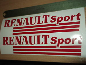 RENAULT SPORT  VINYL CAR STICKERS x2