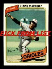 1980 Topps 2-242 EX-MT/NM Pick From List All PICTURED