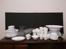 Vintage Arcopal France Romantique Dinnerware/Glassware/Serv ing - 110 Pieces