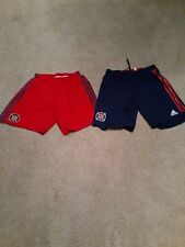 2016 & 2018 Adidas Chicago Fire Soccer Shorts Red  & Blue 2 Pairs Mens L