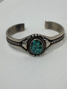 "6"" VTG Native American Hopi Darren Seweyestewa sterling silver Turquoise Cuff"