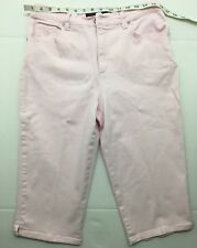 Gloria Vanderbilt Pink/Amanda Skimmer Cropped Capri Size 10