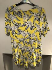 Women's Motel Rocks fluorescent yellow floral Dahlia playsuit Size Small