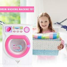 Children Kids Electronic Washing Machine Pre School Play Doll House Toy Washer