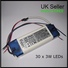3W x 30 Constant Current LED Driver Power Supply for High Power Chips Grow light