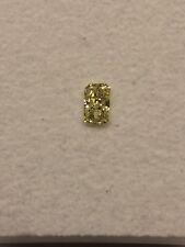IGI Cert 0.20ct RADIANT cut Diamond FANCY INTENSE YELLOW VVS1