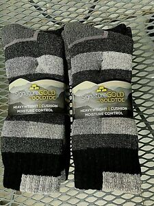 4 pr Men Gold Toe Signature Wool hiking hunting fishing insulating socks thermal