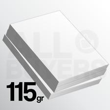 100 FOGLI Cartoncino bianco 115 gr Stampa Laser e Inkjet A4 Carta Fotografia