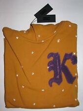 Kith K's Hooded Sweatshirt Yellow Men's Size Large NWT Fieg Monday Program