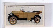 (Jd2393-100)  LAMBERT & BUTLER,MOTOR CARS,A SERIES,FIAT,1922,#17