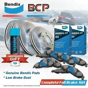 Front + Rear BCP Disc Rotors Bendix Brake Pads for Kia Sorento XM 2.2L Turbo AWD