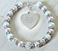 Engraved Personalised Graduation Good luck Well Done Exam Results Bracelet Gift