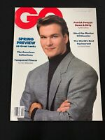 GQ February 1989 Magazine PATRICK SWAYZE COVER, MARTY BAUER, Mens Fashion