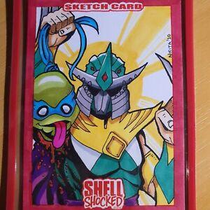 Green Ranger Shredder Ninja Turtles TMNT power rangers original art sketch card