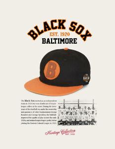 Baltimore Black Sox Negro League Baseball Hat Wool Negro League Baseball Cap