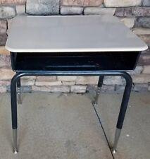 Student Home School Computer Study Desk Adjustable Metal Legs Open Front Cubby